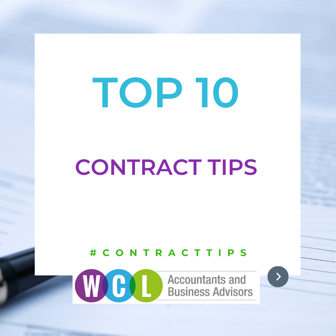 Our Top 10 Contract Tips – Part 1