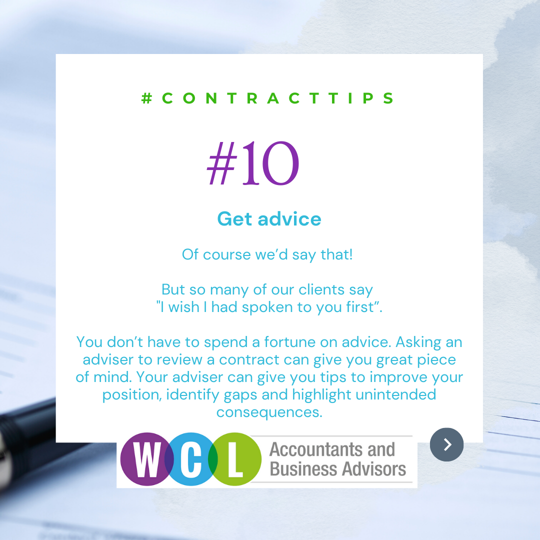 Our Top 10 Contract Tips (Part 2)